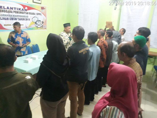 Pelantikan Kelompok Penyelenggara Pemungutan Suara (KPPS) Pemilu 2019 Kelurahan Kartoharjo Kota Madiun