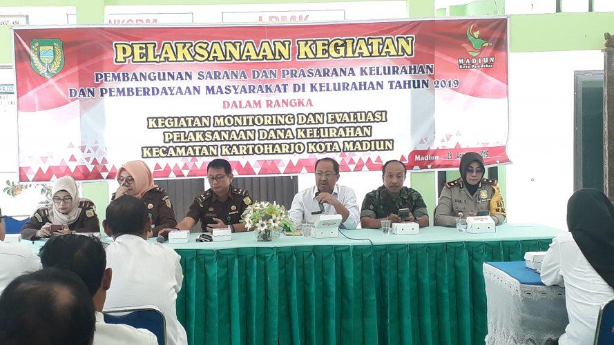 Kegiatan Monitoring dan Evaluasi Serta Pendampingan dari Pihak Kejari Kota Madiun Dana Kelurahan Kecamatan Kartoharjo Kota Madiun Tahun 2019